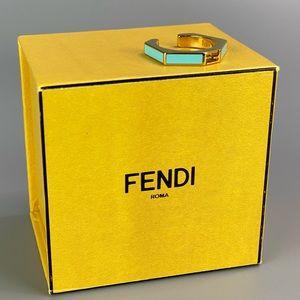 FENDI Enameled Baguette ring